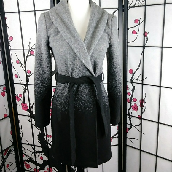 BB Dakota Jackets & Blazers - BB Dakota Evan Ombre Belted Woolen Coat Trench